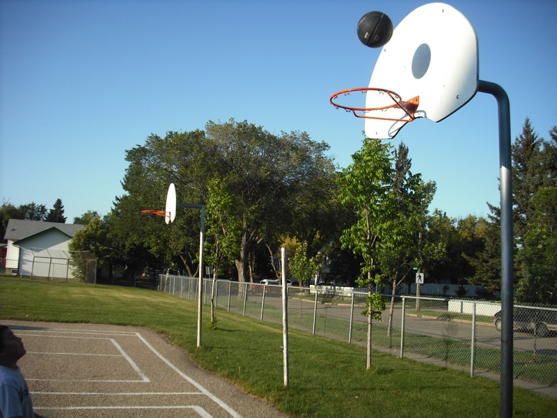 Basketball courts at Mayfair Community School
